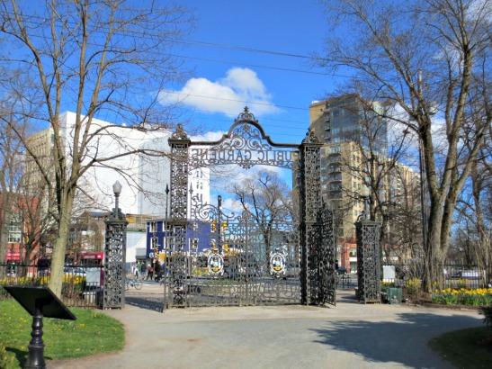 Halifax Public Gardens main gates exit